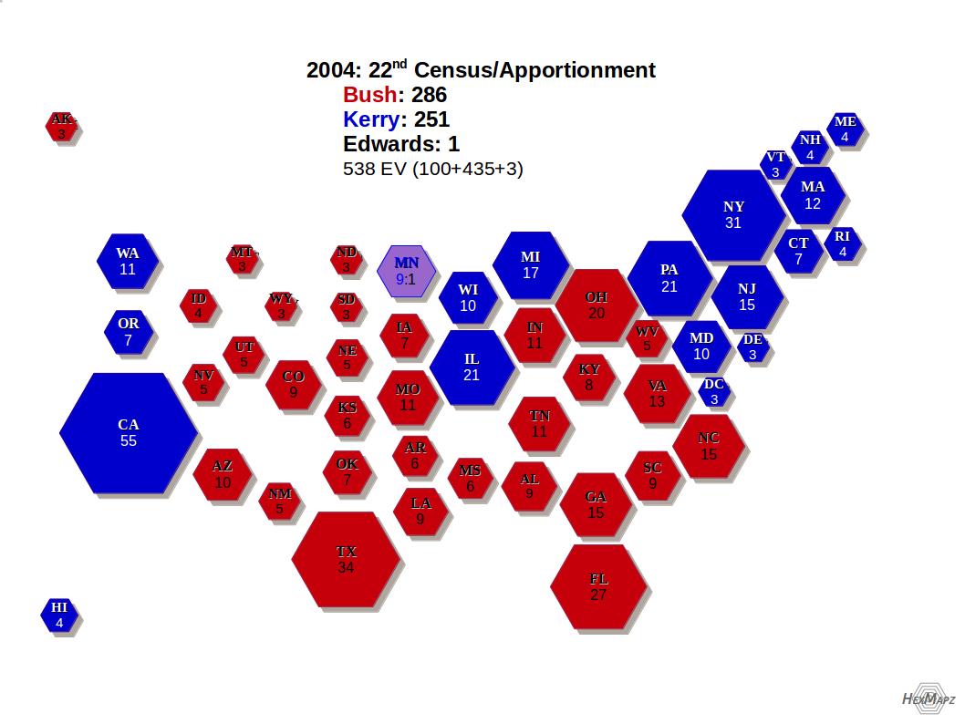 2004 Us Electoral Map - 2004-us-electoral-map